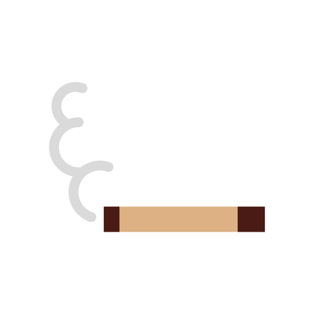 Cigarette on isolated icon vector illustration design