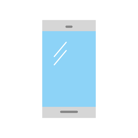 communication concept: smartphone device isolated icon vector illustration design