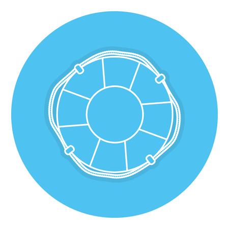 フロート ライフガード分離アイコン ベクトル イラスト デザイン