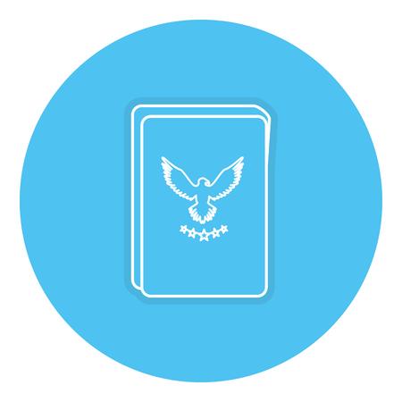 여권 문서 격리 된 아이콘 벡터 일러스트 레이 션 디자인