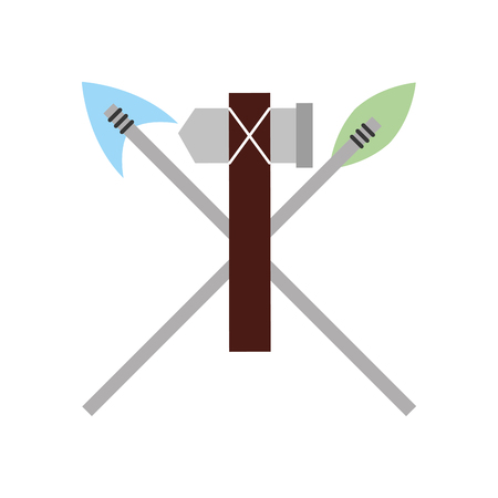 antique arrows and ax isolated icon vector illustration design Фото со стока - 83950705
