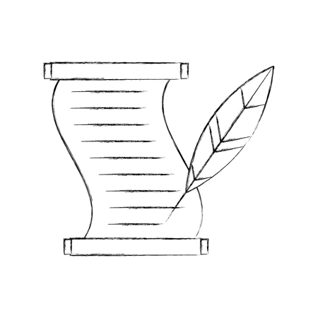 Musée papyrus avec la conception d'illustration vectorielle de plume Banque d'images - 83950709