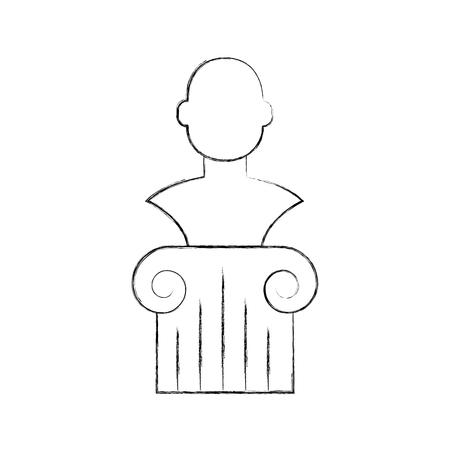 博物館列分離アイコン ベクトル イラスト デザイン  イラスト・ベクター素材