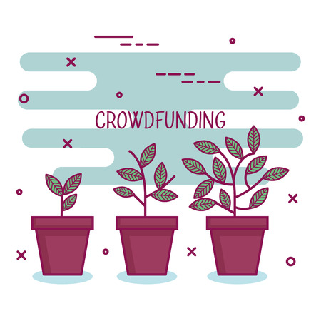 クラウドファンディング スポンサー プロジェクト協力のベクトル図を上げる