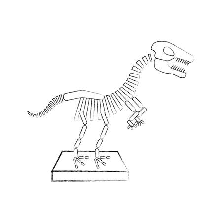 dinosaur skeleton icon vector illustration design Illustration