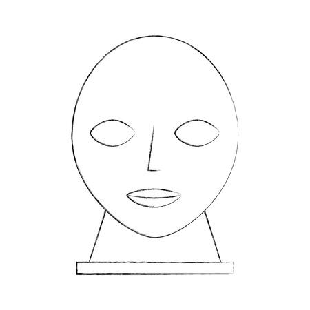 Kopf Skulptur Museum Symbol Vektor-Illustration Design Standard-Bild - 83947357
