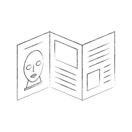 芸術的なパンフレット分離アイコン ベクトル イラスト デザイン