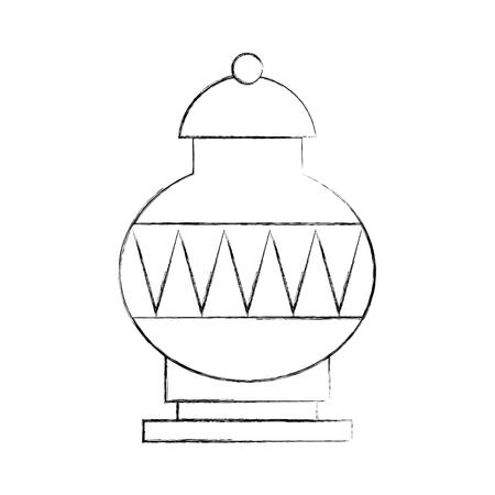 古い花瓶アイコン ベクトル イラスト デザイン
