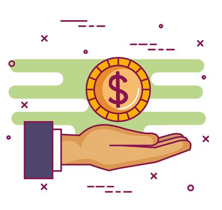 クラウドファンディング スポンサー協力寄付集団ベクトル図  イラスト・ベクター素材