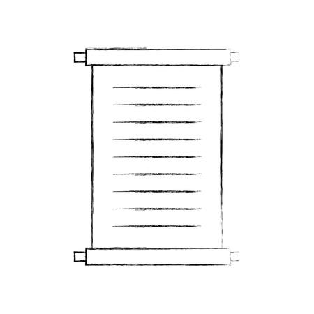 博物館のパピルス分離アイコン ベクトル イラスト デザイン  イラスト・ベクター素材