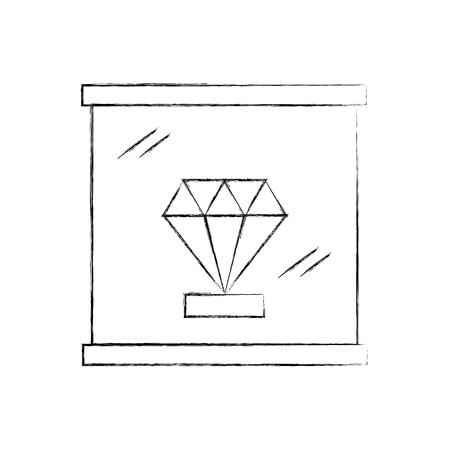 Diamond  icon vector illustration design