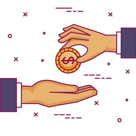 crowdfunding 스폰서 협업 기부 집단 벡터 일러스트 레이션