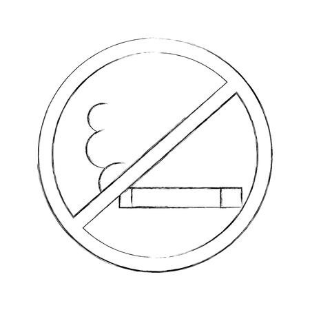 Non fumeur icône isolée design d'illustration vectorielle Banque d'images - 83950113
