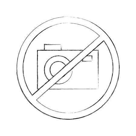 interdiction: Forbidden to take photos vector illustration design
