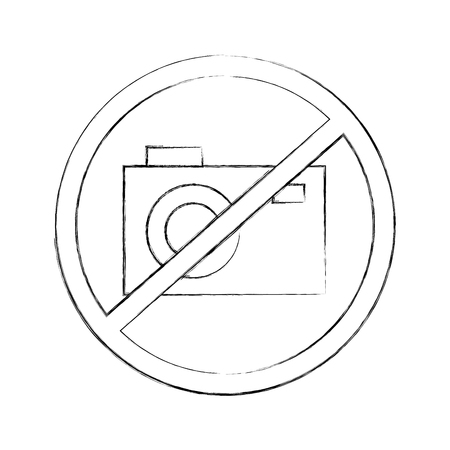 Interdit de prendre des photos vector illustration design Banque d'images - 83950114