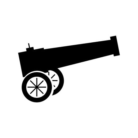 古い大砲分離アイコン ベクトル イラスト デザイン
