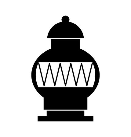 古い博物館の花瓶のアイコン ベクトル イラスト デザイン