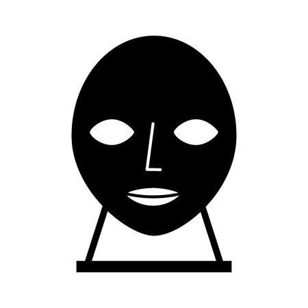 Tête sculpture musée icône vector illustration design Banque d'images - 83947932
