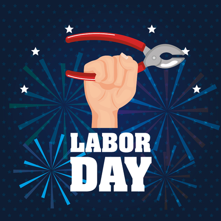 labor day poster festival national celebration vector illustration