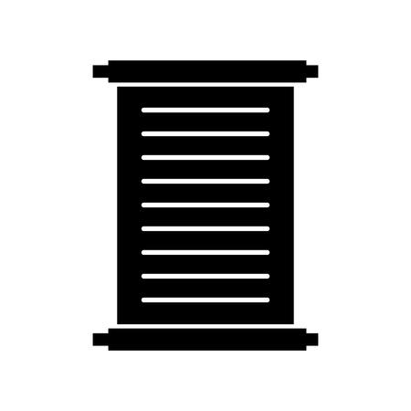 古いパピルス分離アイコン ベクトル イラスト デザイン