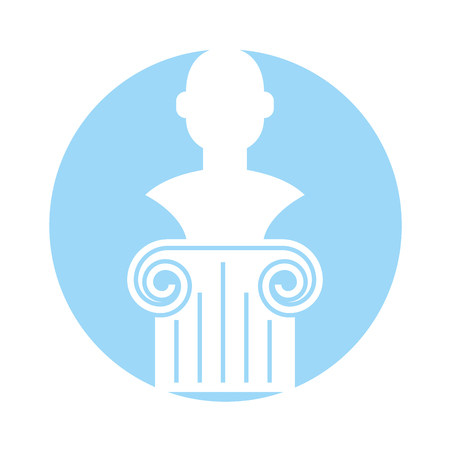 roman pillar: museum column isolated icon vector illustration design