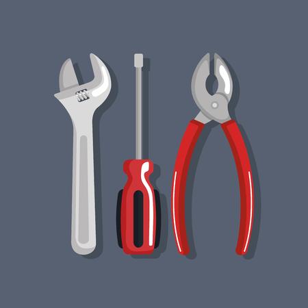 set tools elements work labor day symbol vector illustration
