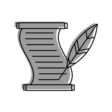 Museum Papyrus mit Feder Vektor-Illustration Design Standard-Bild - 83947971