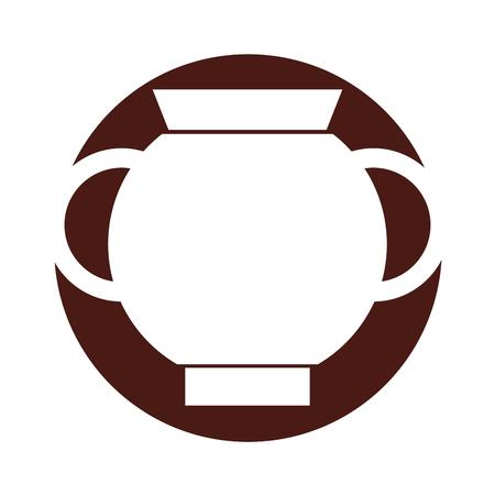 Vieux icône de vase de musée design d'illustration vectorielle Banque d'images - 83948094