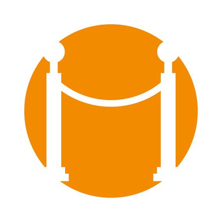 Museum border isolated icon vector illustration design Stock Vector - 83948140