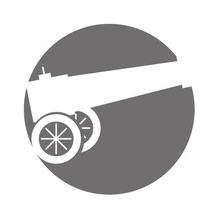 Het oude kanon geïsoleerde ontwerp van de pictogram vectorillustratie