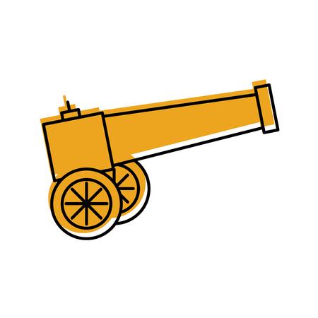 Vecchio cannone isolato illustrazione vettoriale illustrazione Archivio Fotografico - 83948315