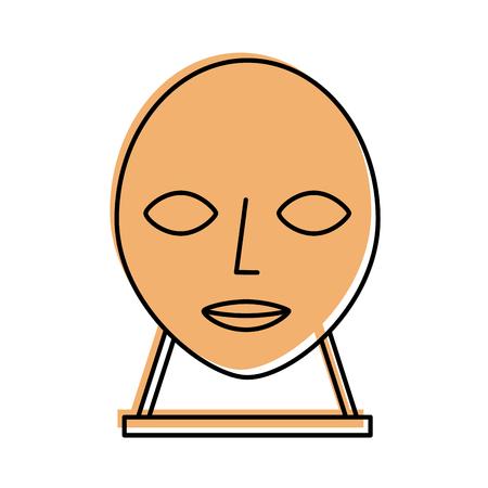 Kopf Skulptur Museum Symbol Vektor-Illustration Design Standard-Bild - 83948314