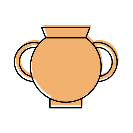 Old museum vase icon vector illustration design Çizim