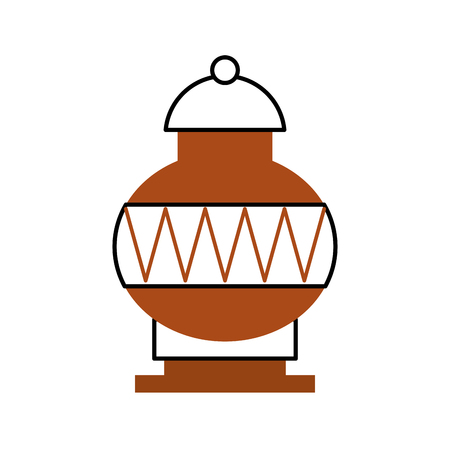 Old museum vase icon vector illustration design Ilustração