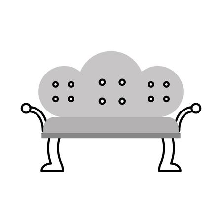 antique sofa isolated icon vector illustration design