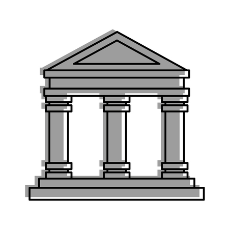 museum building isolated icon vector illustration design Фото со стока - 83948336