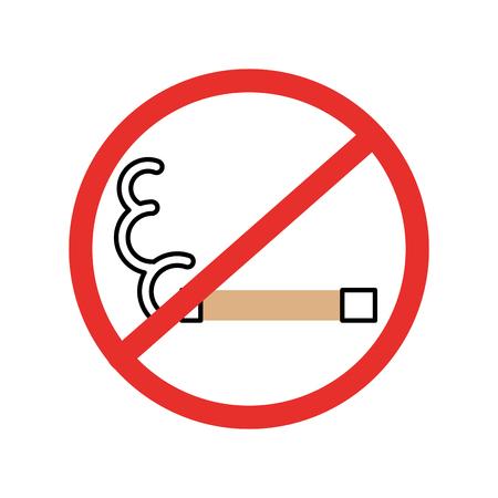 Non fumeur icône isolée design d'illustration vectorielle Banque d'images - 83948344