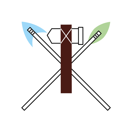 antique arrows and ax isolated icon vector illustration design Фото со стока - 83948186