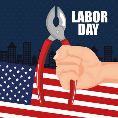 labor day poster festival national celebration vector illustration