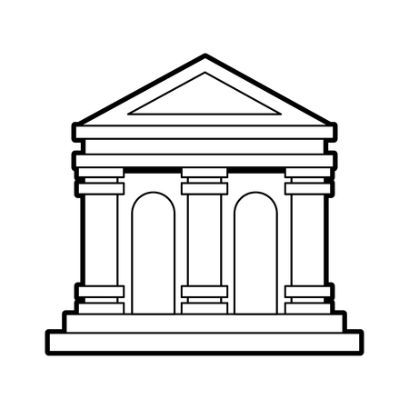 museum building isolated icon vector illustration design