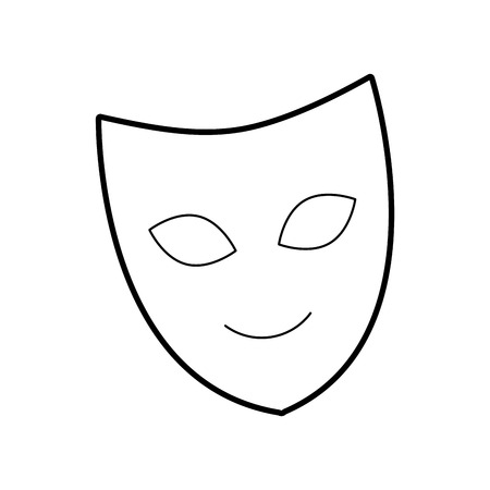 theater mask isolated icon vector illustration design Ilustração