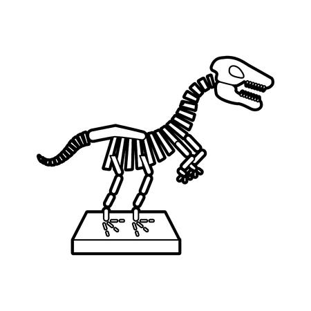 Museo dinosaurio esqueleto icono de diseño de ilustración vectorial Foto de archivo - 83948395
