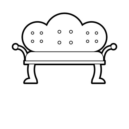 antique sofa isolated icon vector illustration design