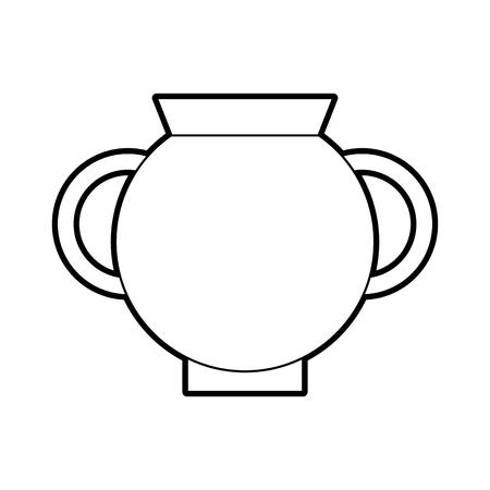 Vieux icône de vase de musée design d'illustration vectorielle Banque d'images - 83948547