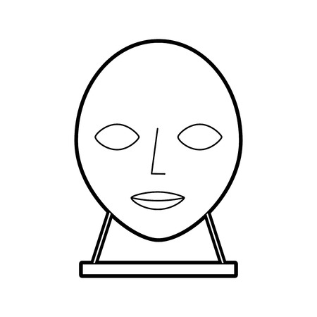 머리 조각 박물관 아이콘 벡터 일러스트 레이 션 디자인