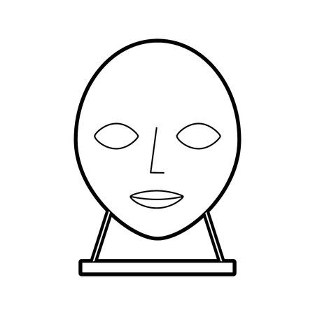 hoofd sculptuur museum pictogram vector illustratie ontwerp