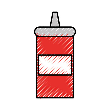 sauce bottle isolated icon vector illustration design Illustration