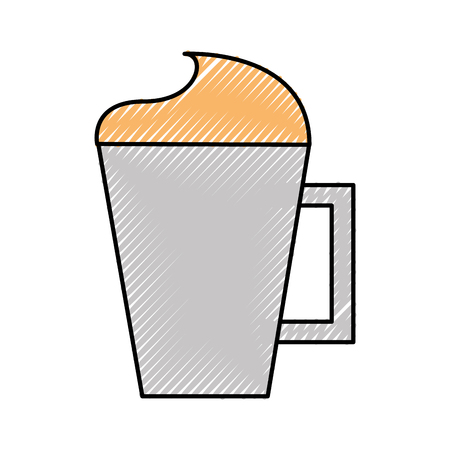 iced coffee cup isolated icon vector illustration design 向量圖像