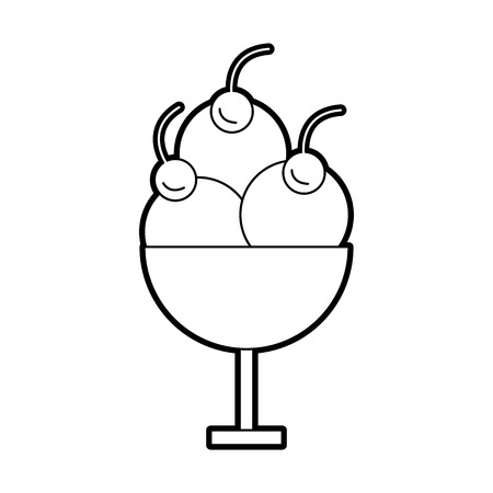 ice: ice cream cup isolated icon vector illustration design