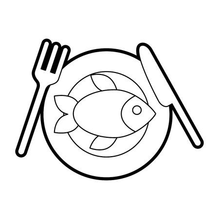 delicious fish isolated icon vector illustration design Иллюстрация